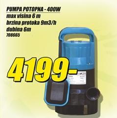 Pumpa potopna 400W
