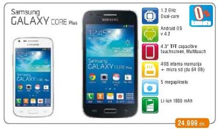 Mobilni telefon Galaxy Core Plus
