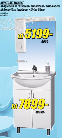 Kupatilski element Ormarić sa lavaboom