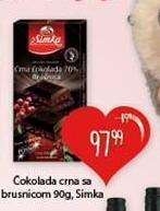 Čokolada crna brusnica