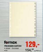 Pregradni kartoni A4, Fornax