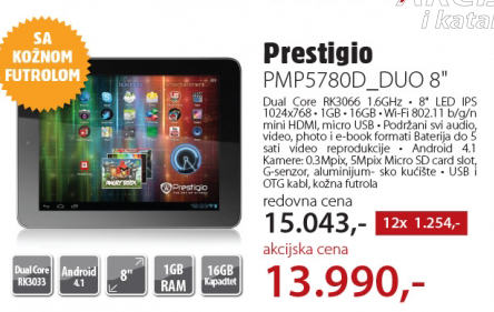 Tablet PMP5780D_DUO 8""
