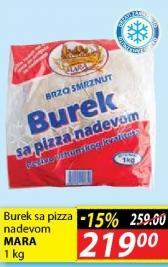 Smrznuti burek pizza nadev
