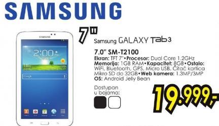 "Tablet Galaxy Tab3 7.0"" Sm-T2100"