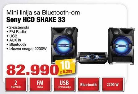 Mini linija Hcd Shake 33