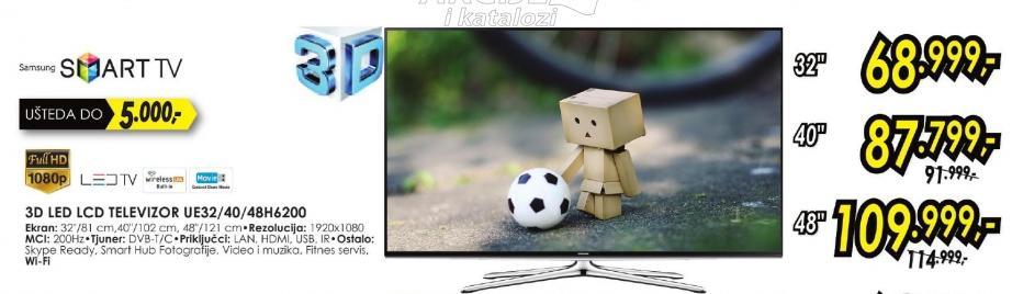 """Televizor LED 32"""" 3D Ue32h6200"""