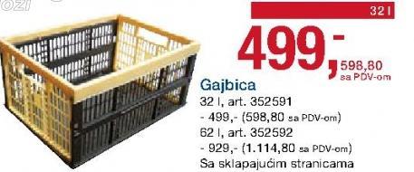 Gajbica 62l