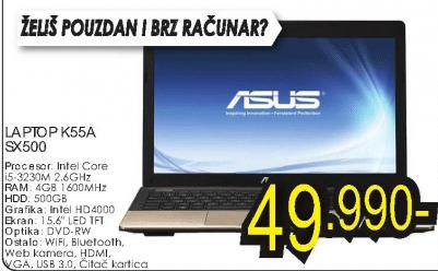 Laptop K55A-SX500