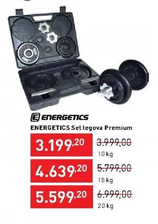 Set tegova Premium, Energetics