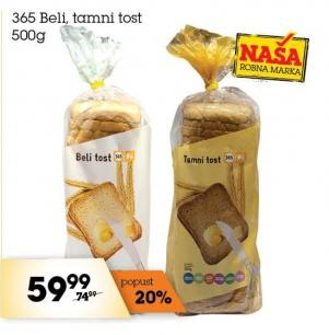 Hleb tost crni