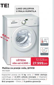 Mašina Za Pranje Veša WS 5029