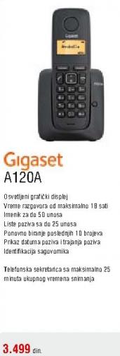 Bežični telefon A120A GIGASET