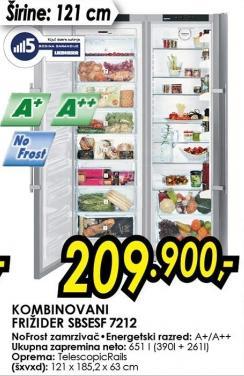 Kombinovani frižider Sbsesf 7212