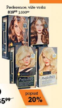 Farba za kosu Preference