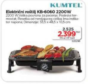 Električni roštilj KB-6060 KUMTEL