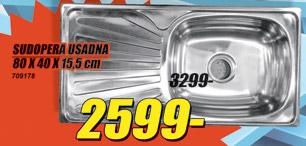 Sudopera Usadna 80x40x15.5