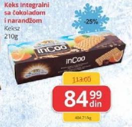 Keks InCoo čoko narandža