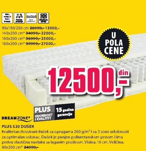 Dušek Plus S20 80x200