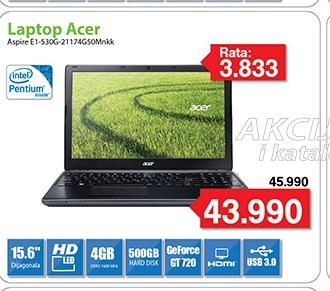 "Laptop Aspire E1-530G-21174G50Mnkk 15.6"""