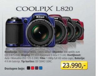 Digitalni fotoaparat Coolpix L820