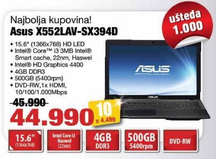 Laptop X552lav-Sx394d