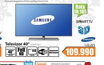 "Televizor TV 40"" LED Smart 3D UE40F7000"