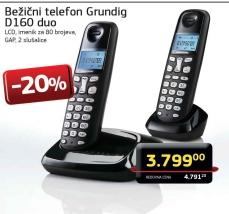 Bežični telefon D160 duo