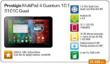 Tablet  QUANTUM 10.1 PMP5101C