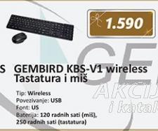 Tastatura i miš KBS-V1 wireless