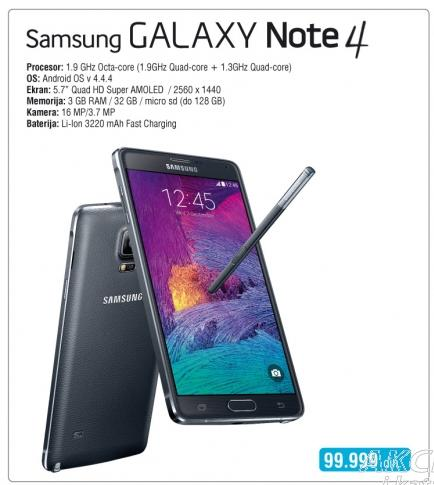 Mobilni telefon Galaxy Note 4