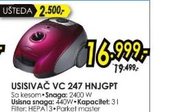Usisivač VC 247HNJGPT