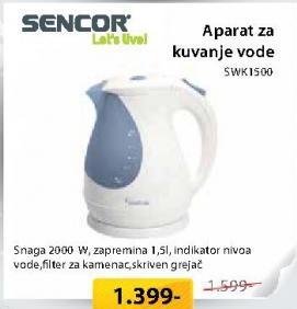 Aparat za grejanje vode SWK1500