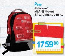 Paso školski ranac NBA 184 crveni