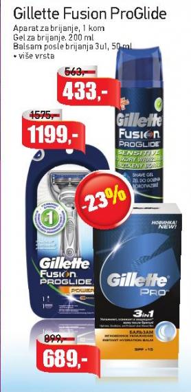 Gel za brijanje Fusion ProGlide