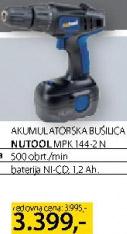 Akumulatorska bušilica Nutool Mpk144-2n