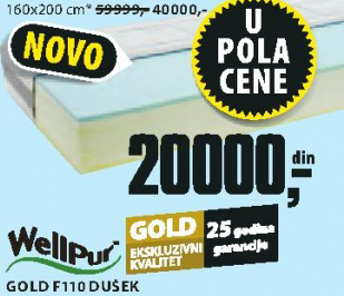 Dušek Gold F110, 80x200cm