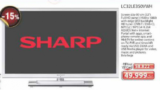 LED Televizor LC32LE350VWH, Sharp