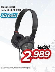 Slušalice Mdr-Zx300b