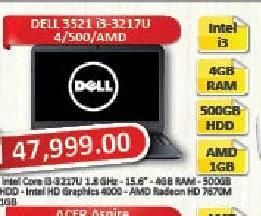 Laptop računar 3521 i3-3217U/4/500