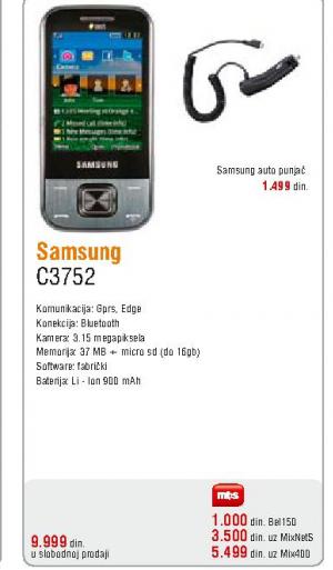 Telefon mobilni C3752
