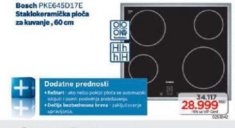 Ugradna staklokeramička ploča Pke645d17e