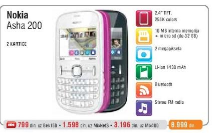 Mobilni Telefon  200 Asha Dual SIM