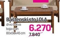 Baštenski sto Lola