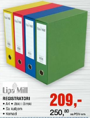 Registrator A4 - Lipa Mill