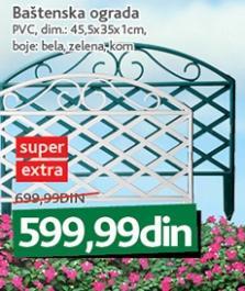 Baštenska ograda Pvc