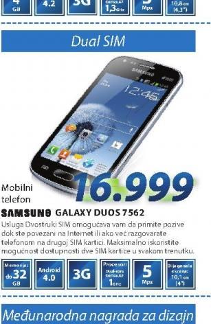 Mobilni Telefon S7562 GALAXY S DUO