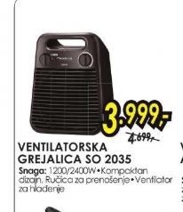 Ventilatorska grejalica Sprinto Silence SO 2035