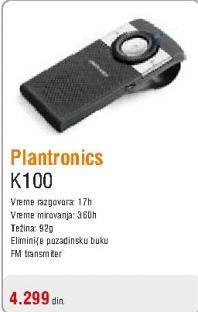 Bluetooth slušalice K100