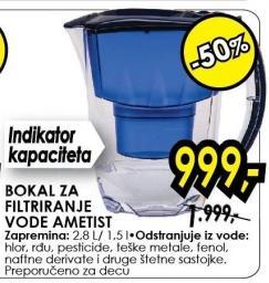 Bokal za filtriranje vode Ametist