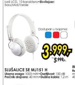 Slušalice SE-MJ151-H